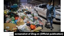 Rác chất đống trong hơn 3 ngày ở Hà Nội, tính đến chiều 14/1/2019