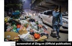 Hà Nội nhiều lần chịu cảnh ngập rác vì Bãi rác Nam Sơn bị người dân chặn đường