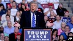 Donald Tramp Floridada saylovchilar bilan uchrashmoqda, 10-avgust, 2016-yil.