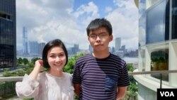 Luật sư Trần Kiều Ngọc và Joshua Wong.