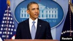 Presiden AS Barack Obama memberikan pernyataan di Gedung Putih menjelang batas waktu pengesahan RUU anggaran (30/9).