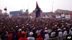 Comício do MPLA em Malanje de apoio à José Eduardo dos Santos, Julho 2012