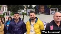 Berlində Azərbaycanda siyasi məhbusları müdafiə aksiyası