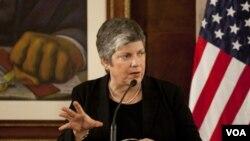 La secretaria de Seguridad Nacional de Estados Unidos, Janet Napolitano.