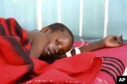A child being treated for cholera in a MSF clinic in Zimbabwe ... The organization fears more disease outbreaks if many Zimbabweans are deported soon from South Africa