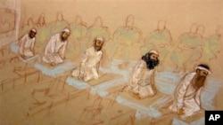 Заключенные во время молитвы