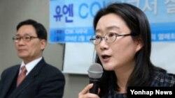 북한 반인도범죄 철폐 국제연대 권은경 사무국장. (자료사진)