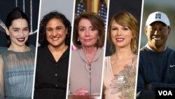 مجله تایم ۱۰۰ چهره تأثیرگذار خود را در پنج بخش ارائه می دهد