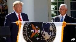 پرزیدنت ترامپ یکسال پیش از تاسیس نیروی فضایی آمریکا خبر داده بود.