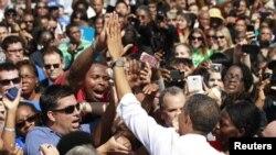 Barack Obama em campanha no estado de Virginia.