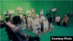 Konsep pernikahan virtual yang Yurry tawarkan hanya memperbolehkan maksimal 15 orang terlibat dalam prosesi maupun resepsi pernikahan. (courtesy: GM Production)