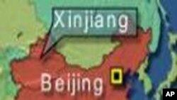 Xinjiang, China Map