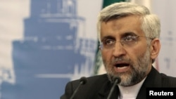 Iran's chief negotiator in nuclear talks, Saeed Jalili, addresses the media in Moscow June 19, 2012.