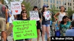 Demonstrasi anti-Trump pada Konvensi Nasional Partai Republik di Cleveland, Ohio.