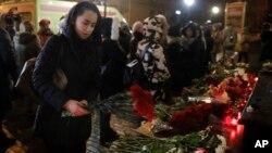 Aviahalokatda qurbon bo'lganlar xotirlanmoqda, Moskva, 25-dekabr, 2016-yil