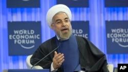 Tổng thống Iran Hassan Rouhani tại Diễn đàn Kinh tế Thế giới ở Davos, Thụy Sĩ