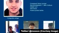 La photo de Younès Abouyaaqoub, le suspect en fuite des deux attentats en Catalogne, publiée sur le compte Twitter des Mossos d'Esquadra, la police catalane, 21 août 2017. (Twitter/ @mossos)