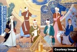 """""""Bashariyat farzandlari"""" Oliy Majlis binosi. Toshkent, 1998-yil."""