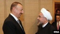 Prezident İlham Əliyev və İran prezidenti Həsən Ruhani