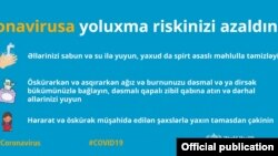 Koronavirusdan qorunmaqla bağlı plakat