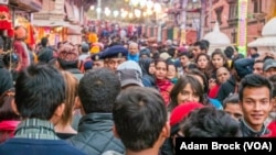 People gather at Pashupatinath Temple for Shiva festival in Kathmandu in February 2015