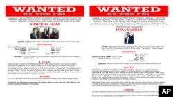 Ảnh truy nã Ahmed al-Agha, trái, và Firas Dardar do FBI cung cấp.