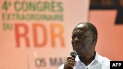 Alassane Ouattara, Abidjan, Côte d'Ivoire, le 5 mai 2018.