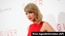 Taylor Swift in New York at the world premiere of the new film 'The Giver' on Aug. 11, 2014
