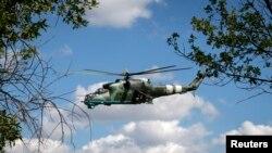 هلی کوپتر جنگی MI-۲۴ ساخت روسیه در اوکراین