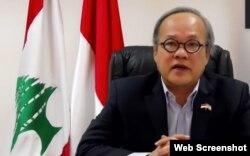 Duta Besar Indonesia di Lebanon, Hajriyanto Tohari (Foto: screenshot)
