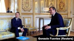 Sastanak predsednika Srbije i Francuske u Parizu 2018.