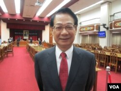 台湾执政党国民党立委吕学樟(美国之音张永泰拍摄)