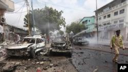 Wani yanki da kungiyar Al Shebab ta kai hari a Somalia