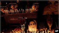 2010年12月27号,支持者纪念巴基斯坦前总理贝.布托被暗杀三周年(资料照)