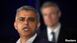 倫敦選出首位穆斯林市長薩迪克汗