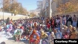 لاپتہ بلوچ نوجوانوں کے اہل خانہ کا مظاہرہ