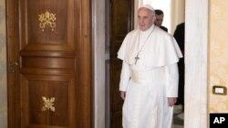 Le pape François au Vatican le 17 décembre 2016.