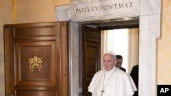 Le pape François a fêté ses 80 ans à Vatican, le 17 décembre 2017.