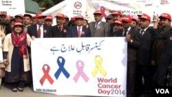 Peringatan Hari Kanker Sedunia di Islamabad (4/2).