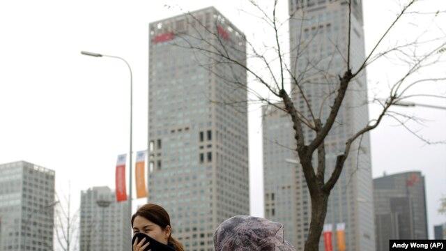 Các tòa cao ốc trong khu kinh doanh của thủ đô Bắc Kinh