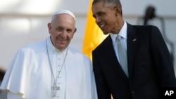 Paparoma Francis da shugaban Amurka Barack Obama