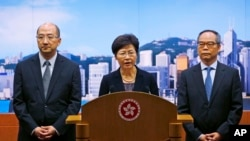 Hong Kong Government Cancels Talks With Protesters