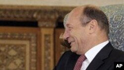Ο Πρόεδρος της Ρουμανίας, Τραϊάν Μπασέσκου