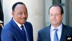 Shugaban Nijer Mahamadou Issoufou da Shugaban Faransa Francois Hollande