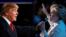 19일 라스베거스 네바다 대학교에서 열린 마지막 대선토론에서 발언하고 있는 도널드 트럼프(왼쪽) 공화당 후보와 힐러리 클린턴 민주당 후보.