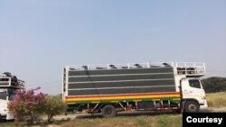 Trucks on Thailand - Myanmar border