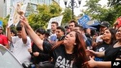 Protesti protivnika Donalda Trampa u San Dijegu