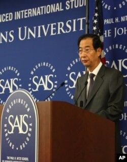 북한인권개선 국제회의에서 발언 중인 한덕수 주미 한국대사
