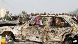 이슬람 무장단체 보코 하람에의해 테러가 일어난 나이지리아 아부자 외곽 술레자 마달라의 성 테레사 성당 폭탄 테러 현장(자료사진)