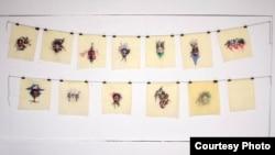 "Idahor's 'Shut Cut"" installation ventures onto new aesthetic grounds of her Hairvolution exhibition (Bola Oguntade. Poseidon Images)"